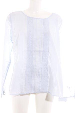 Basefield Blusa de manga larga azul claro look casual