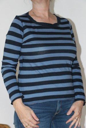 Basefield Longsleeve dark blue-steel blue cotton