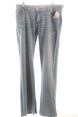 Basefield Jeans met rechte pijpen azuur casual uitstraling