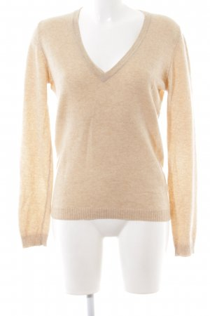 Basefield Knitted Sweater cream flecked business style