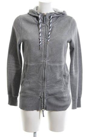 Basefield Sweat Jacket light grey casual look