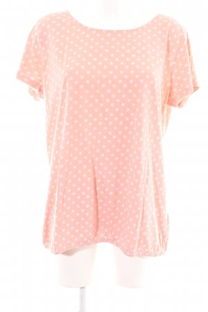 Basefield T-Shirt pink Punktemuster Casual-Look