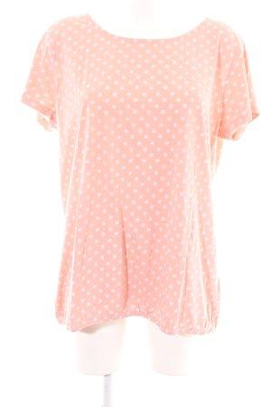 Basefield T-Shirt pink spot pattern casual look