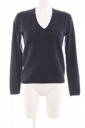 Basefield V-Neck Sweater blue casual look
