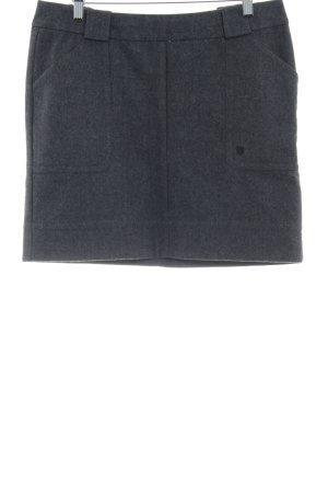 Basefield Falda de lana gris estilo clásico