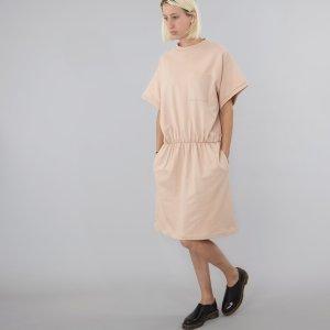 Baserange / Base Range Nude Sweatkleid Kleid Oversize Boxy Sweater Longshirt Iro