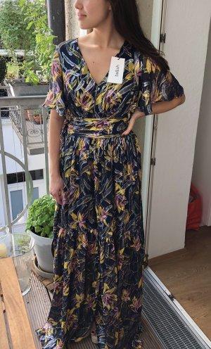 Ba&sh Maxi Dress dark blue-gold orange