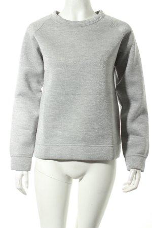 basic apparel Sweatshirt lichtgrijs gestippeld casual uitstraling