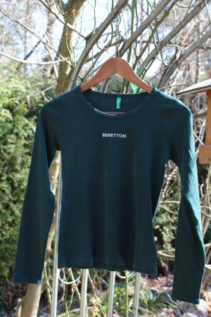 basic Benetton-Langarmshirt mit Glitzer-Slogan
