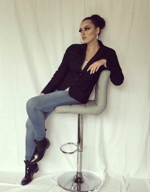 basic blazer in schwarz