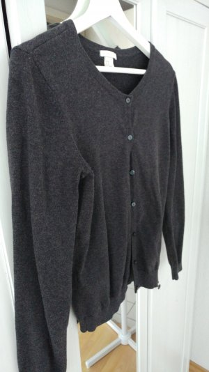 Basic Cardigan von H&M in dunkelgrau
