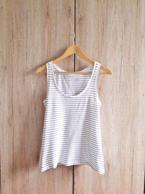 Basic Casual Cotton Top gestreift weiß schwarz Gr. XS