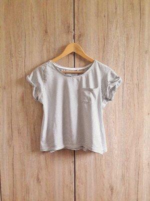 Basic Casual Shirt gestreift schwarz weiß Gr. S