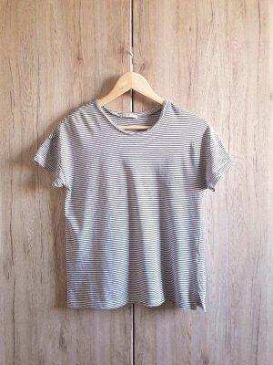 Basic Casual Shirt schwarz weiß Gr. S