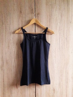 Basic Casual Top dunkelblau Gr. S