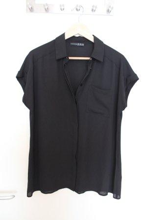 Basic Chiffon Bluse schwarz