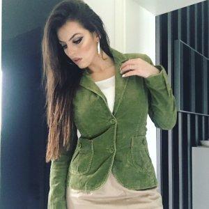 basic cordblazer in schönem dunkelgrün/khaki