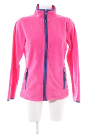 Basic Fleece Jackets pink-blue casual look