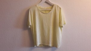 Basic helles gelbes Shirt