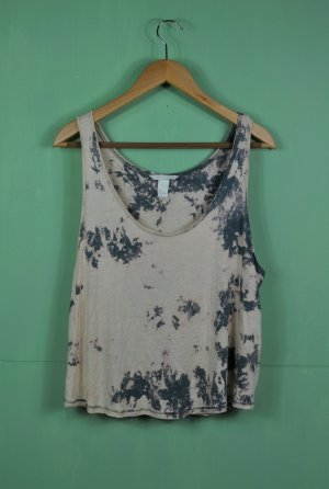 Basic Hippie Batik Shirt / Tanktop mit großen Ärmelausschnitt