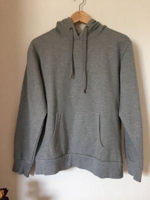 Crane Jersey con capucha color plata tejido mezclado