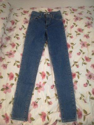 Levi's Pantalon taille haute bleu acier-bleu pétrole