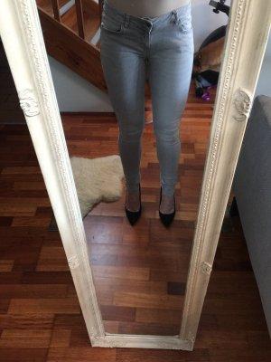 Zara Jeans cigarette gris clair