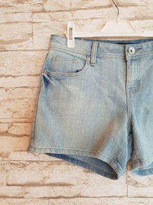 Pantalón corto de tela vaquera gris pizarra-azul pálido