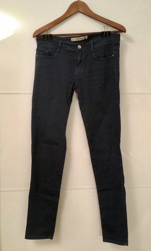 Zara Jeans vita bassa blu scuro