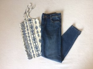Basic Jeans von Zara blau kurzgeschnitten used look 38