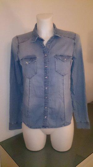 H&M Blouse en jean bleu clair