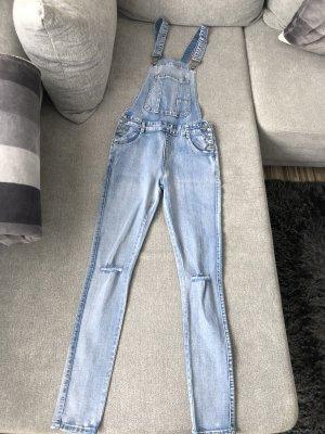 Jeans met bovenstuk blauw-lichtblauw