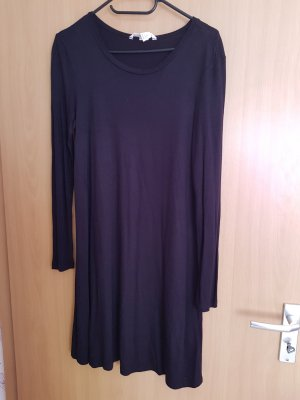 H&M Vestido de tela de sudadera azul oscuro