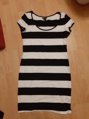 H&M T-shirt jurk wit-zwart