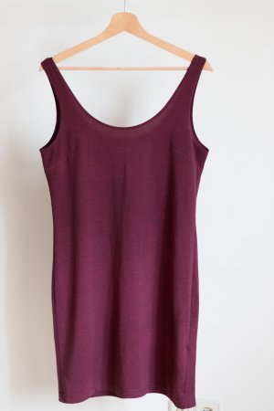 Basic Kleid Burgunder