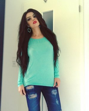 basic langärmeliges shirt in mintgrün