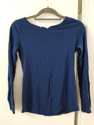 Promod Boothalsshirt donkerblauw