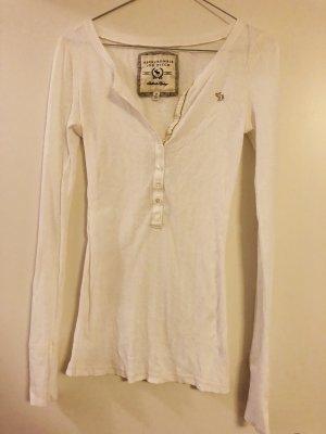 Basic Langarmshirt weiß von Abercrombie & Fitch