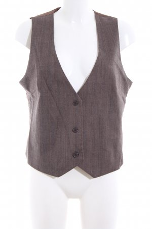 Basic Line Down Vest brown flecked business style