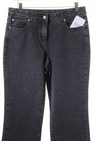 Basic Line Straight-Leg Jeans dunkelgrau-grau Casual-Look