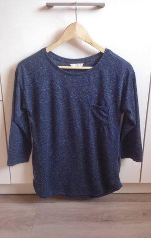 Basic Longsleeve Shirt blau Gr. XS