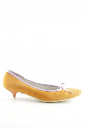 Basic Mary Jane Ballerinas hellorange-lila extravaganter Stil