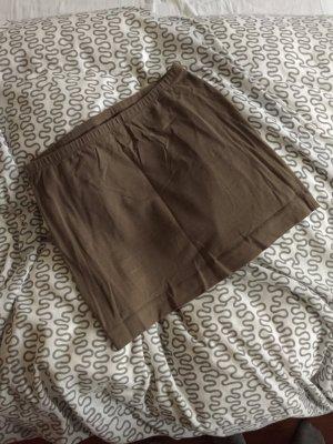 Basic Minirock aus Jersey beige GR. S