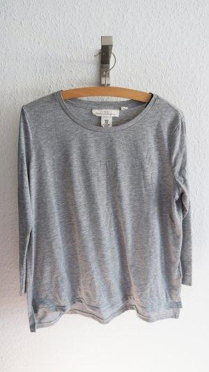 Basic Oberteil Shirt grau mit Glitzer
