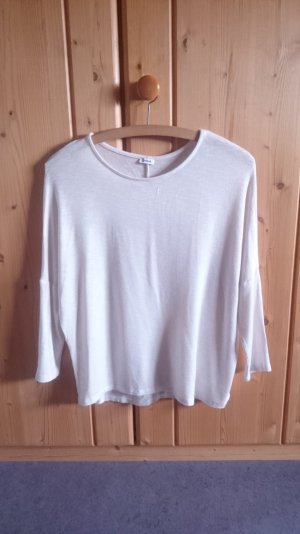 Basic Oversize Longsleeve Shirt creme nude beige 34 36 XS S