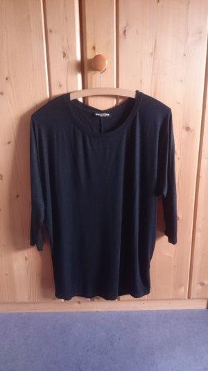 Basic Oversize Longsleeve Shirt schwarz 34 36 XS S