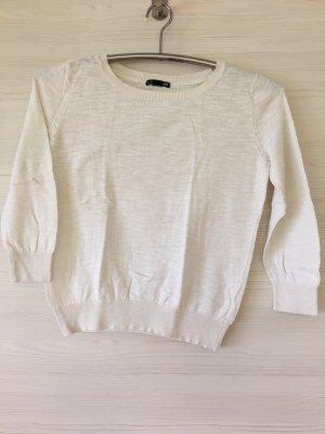 H&M Pull à manches courtes blanc-crème