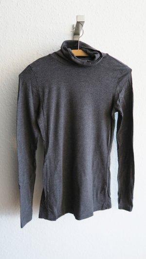 H&M Turtleneck Shirt dark grey-grey