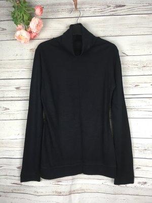 Basic Rollkragen Shirt Top Schwarz Gr. 36 S