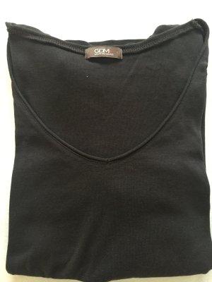 Basic: Schlichtes Langarmshirt in dunkelbraun